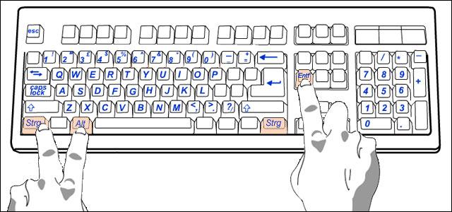 computer abmelden tastenkombination
